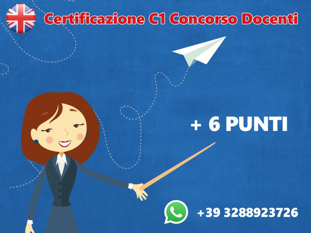 Certificazione C1 concorso docenti