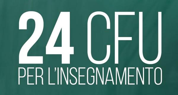 24 CFU PER L'INSEGNAMENTO